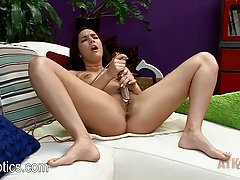 Paisley Parker is often using a vibrator while masturbating, because she likes it a lot